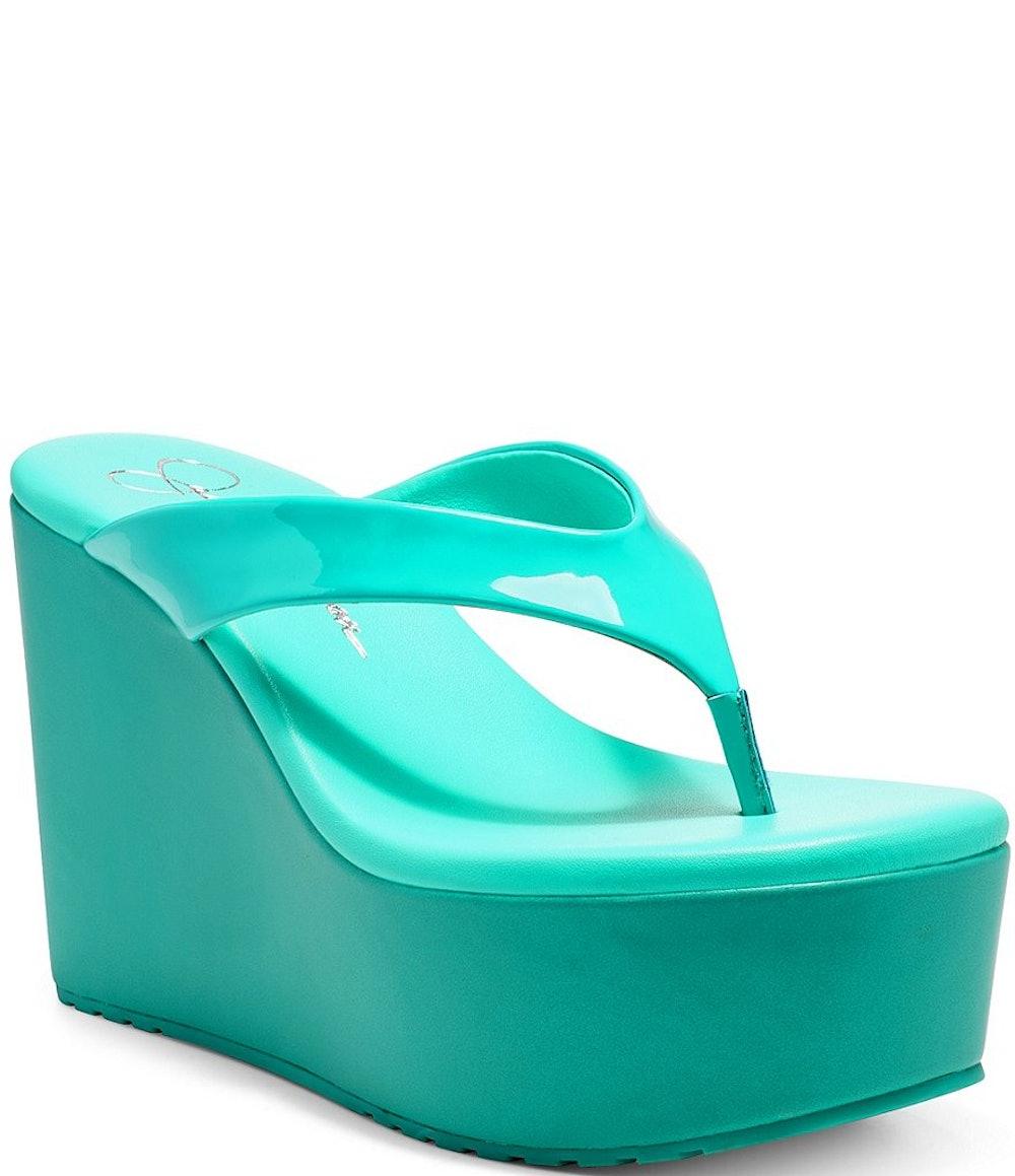 Stilla Patent Platform Flip-Flops