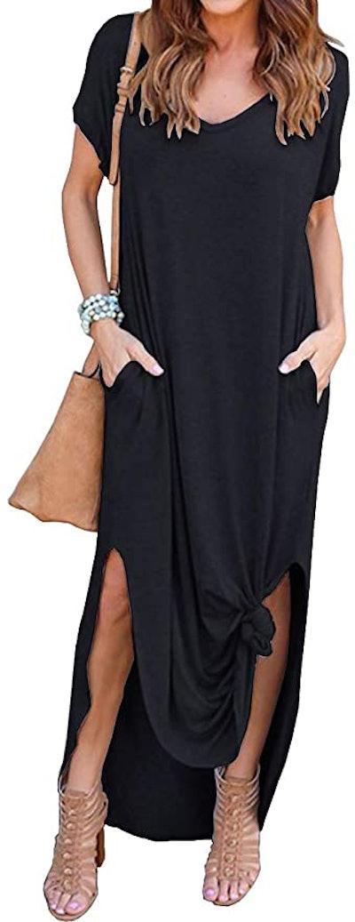 GRECERELLE Side-Split Maxi Dress