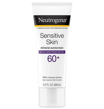 Neutrogena Sensitive Skin Mineral Sunscreen Lotion 60+