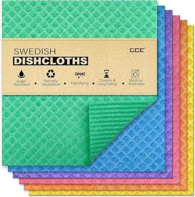 CCE Swedish Cellulose Sponge Dishcloths (6-Pack)