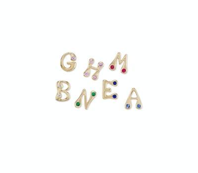 Brent Neale Bubble Alphabet Studs in Diamonds and Precious Stones