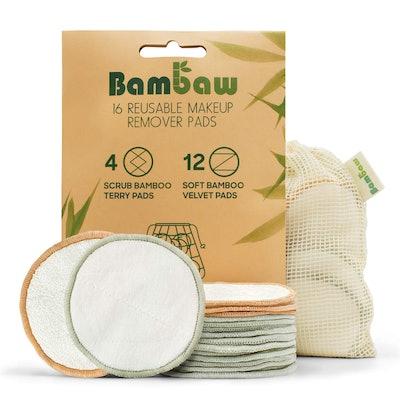 Bambaw Reusable Makeup Remover Pads (16-Count)