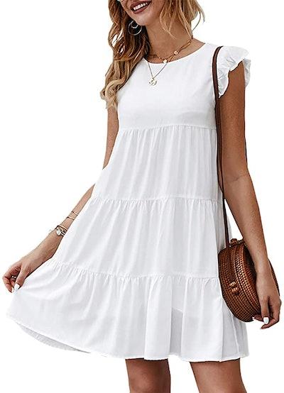 KIRUNDO Flowy Tiered Summer Dress