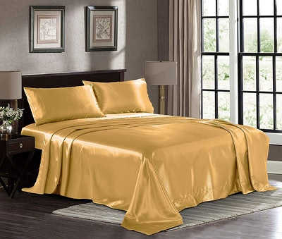 Pure Bedding Satin Sheets (4-Piece)