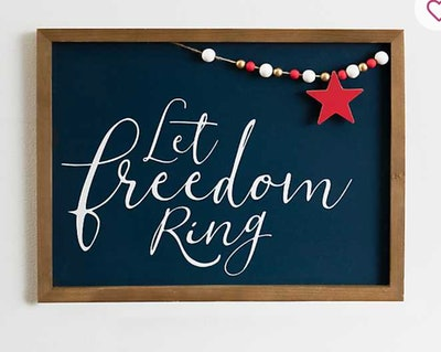 Let Freedom Ring Wooden Wall Plaque