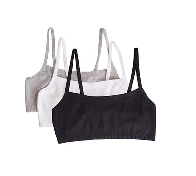 Fruit of the Loom Spaghetti strap Pullover Sports Bra (3-Pack)