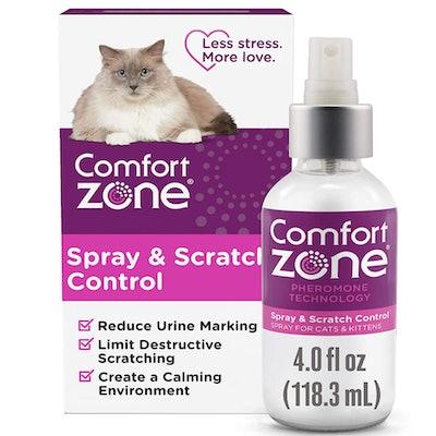Comfort Zone  Spray & Scratch Control, 4 Oz.