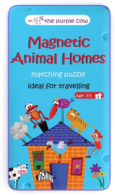 The Purple Cow - Magnetic Travel to Go Animal Homes