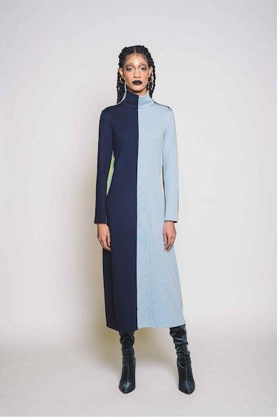 Bessie Mock Neck Midi Dress