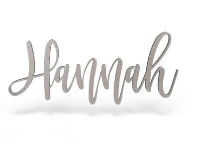 Hannah Font - Wooden Monogram Sign