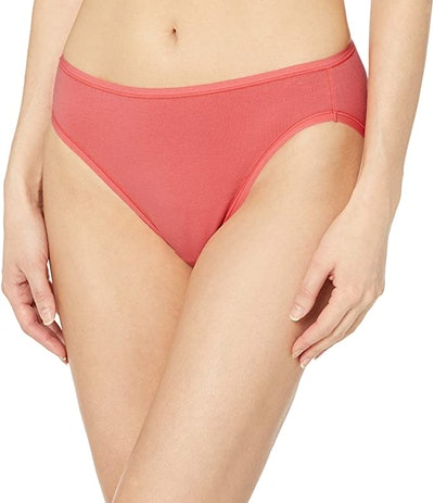 Amazon Essentials Cotton Stretch High-Cut Panty (6-Pack)