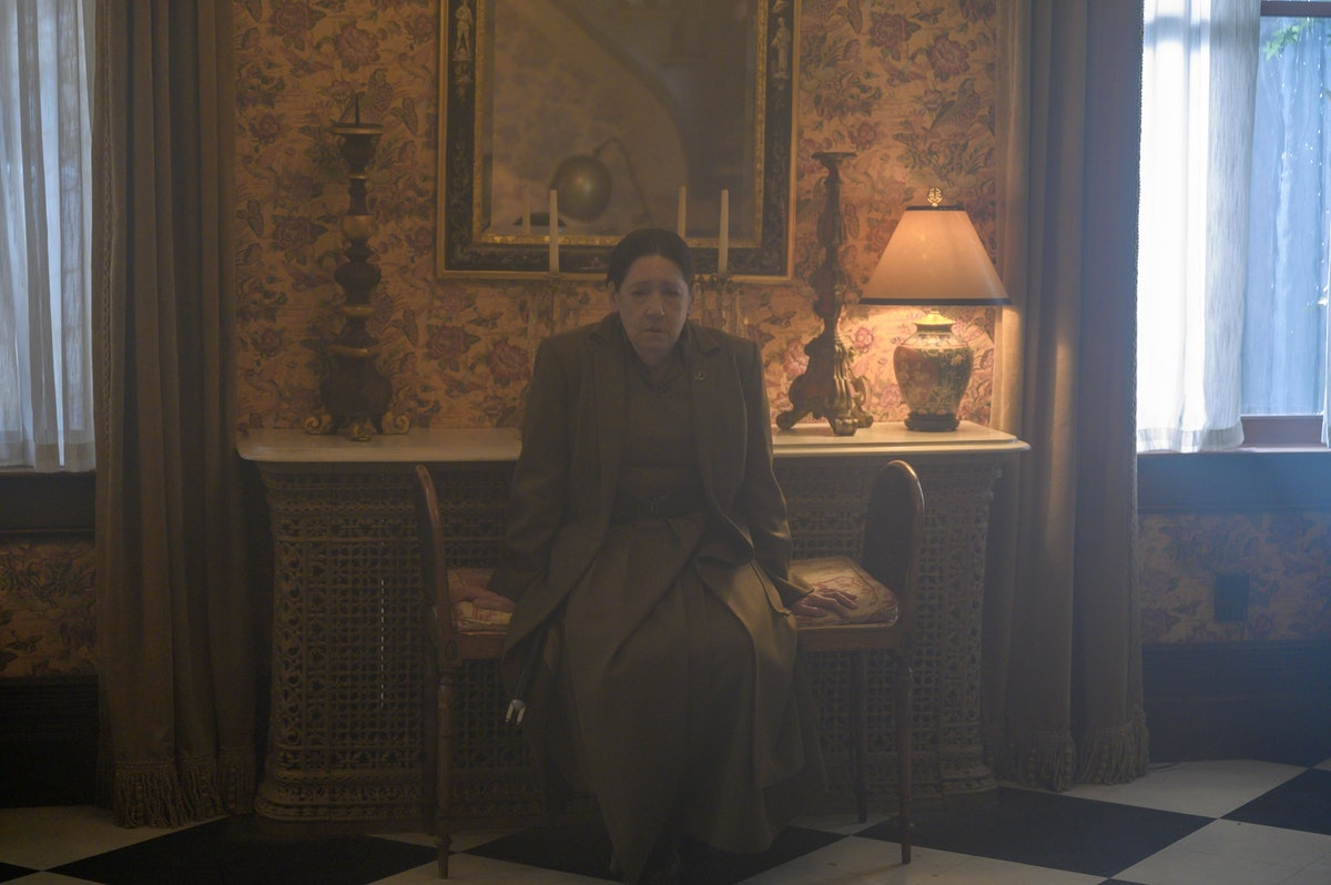 Ann Dowd as Aunt Lydia in her final appearance in The Handmaid's Tale Season 4