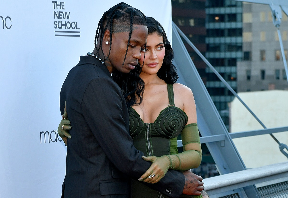 Travis Scott and Kylie Jenner embracing