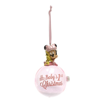 Minnie Mouse First Christmas Hanging Ornament