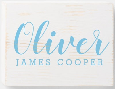 Personalized Name Wooden Sign for Home or  Nursery