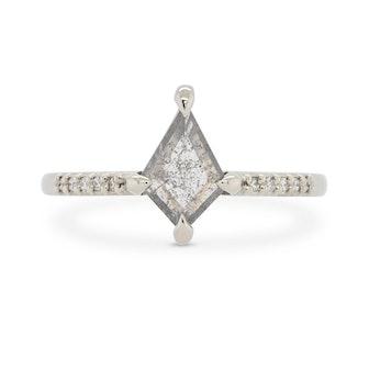 Eva Salt & Pepper Kite Diamond Engagement Ring