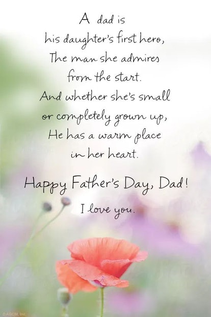 """""""Daughter's Hero'' is a great Father's Day poem."""