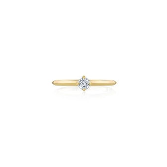 Petit Knife Edge Solitaire Ring