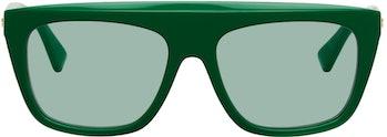 Bottega Vaneta Green Acetate Sunglasses
