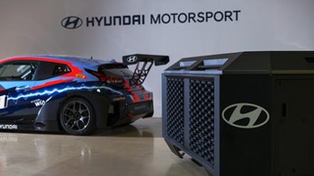 A hydrogen fuel cell race car from Hyundai