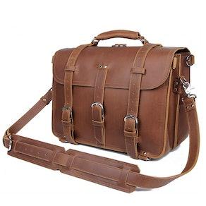 Polare Full Grain Leather Messenger Bag
