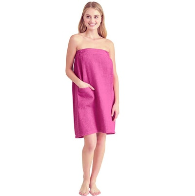 Soft Touch Linen Spa/Bath Wrap With Pocket