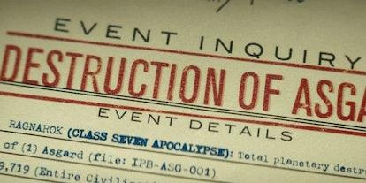 Destruction of Asgard paperwork from 'Loki' is an easter egg from 'Thor: Ragnarok'