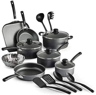 COLIBYOU 18 Piece Nonstick Pots & Pans Cookware Set