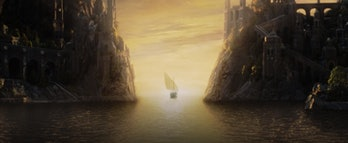 The boat to the Undying Lands in Lord of the Rings: Return of the King