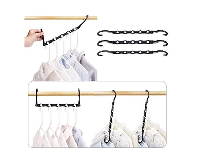 HOUSE DAY Space Saving Black Magic Hangers (10-Pack)