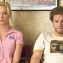 """Seth Rogan unexpectedly becomes a father after a one night stand in """"Knocked Up."""""""