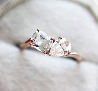 Alexandra Two Stone Diamond Ring