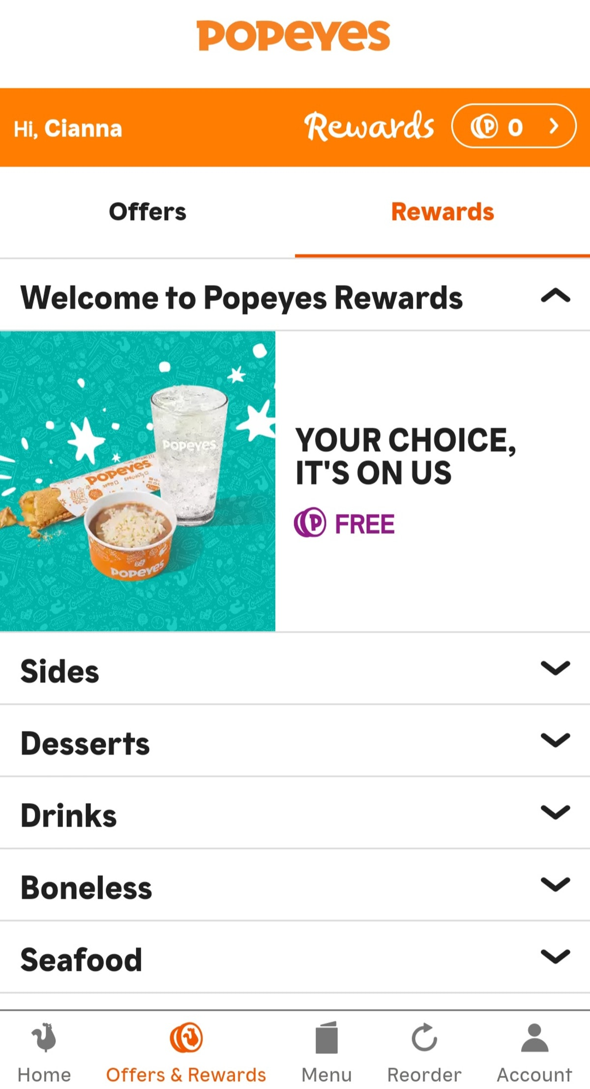 Here's how to get Popeyes Rewards to score deals like $1 happy hour sides and more.