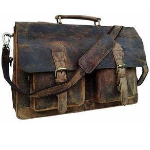 Cuero Buffalo Leather Messenger Bag