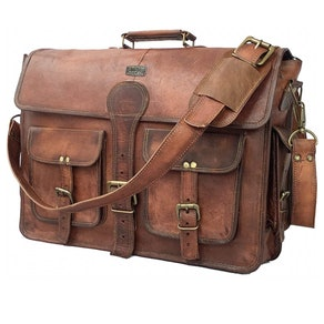 Cuero Handmade Leather Messenger Bag