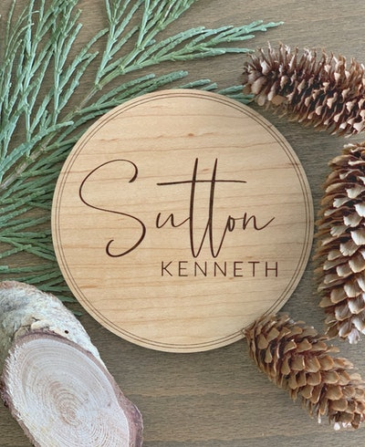 Wooden Personalized Baby Name Announcement