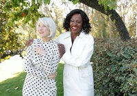 Helen Mirren and Viola Davis join L'Oréal Paris to celebrate the launch of Age Perfect Cosmetics on ...