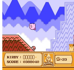 kirby's adventure flying