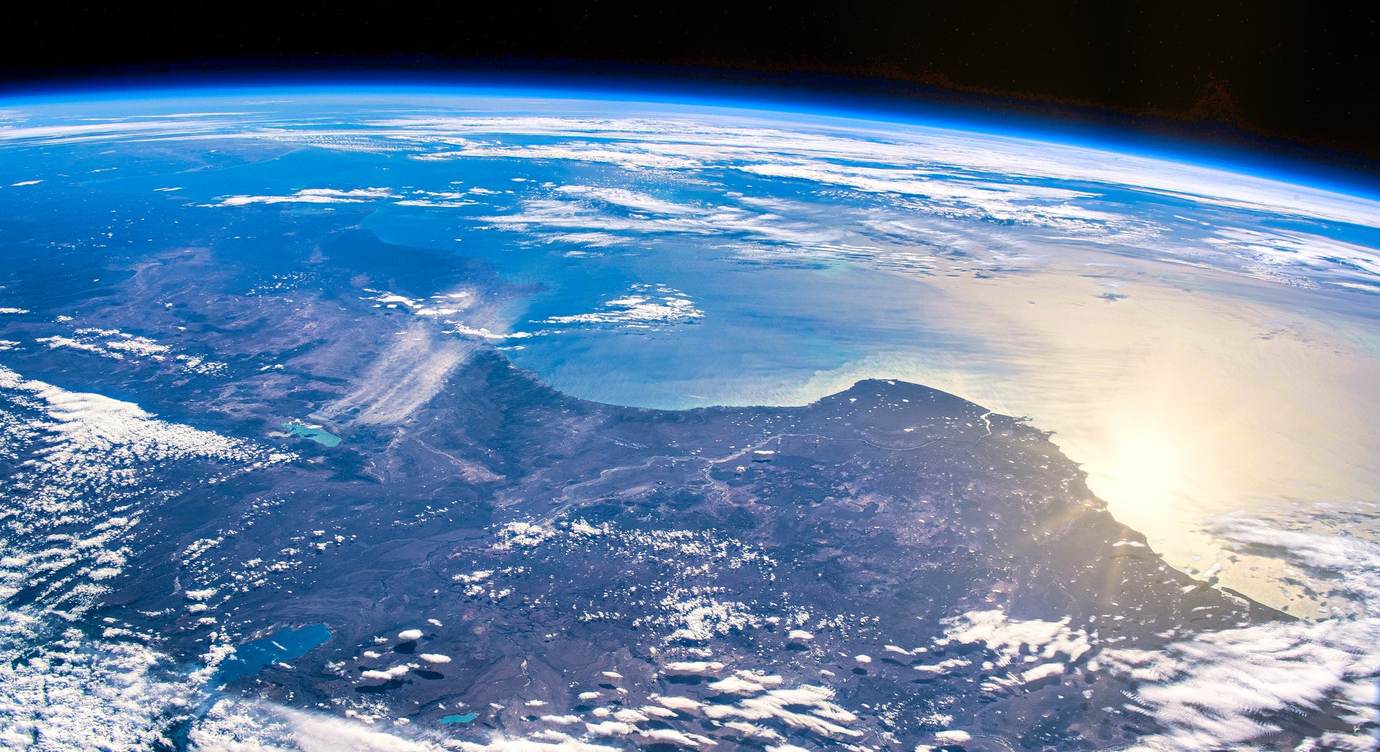Earth from space image