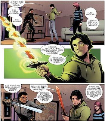 Loki Laevateinn flaming sword theory marvel comics