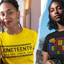 Juneteenth is approaching, and here are 10 Juneteenth t-shirts from Etsy to wear to celebrate the ho...