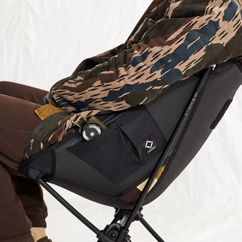 Storage compartments are aplenty on the Tactical Collection's Sunset Chair.