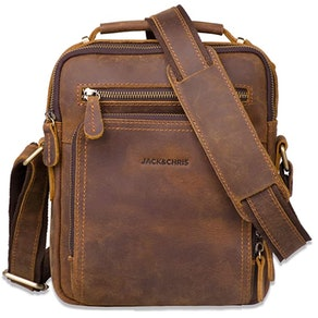 Jack & Chris Leather Messenger Bag