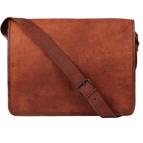 Rustic Town Genuine Leather Messenger Bag