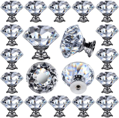 DeElf Glass Cabinet Knobs (26-Pack)