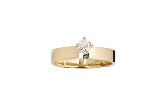 Old European Diamond Monolith Ring