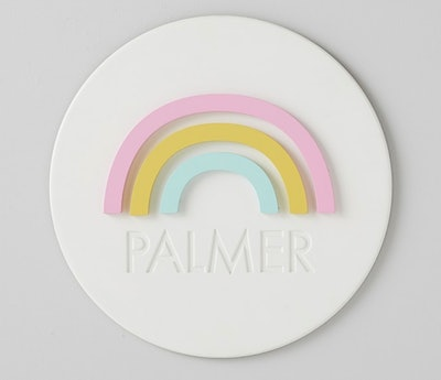 Personalized Rainbow Wooden Plaque
