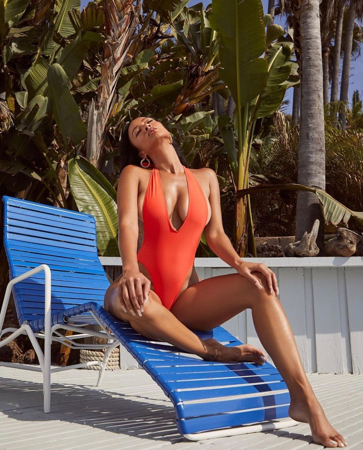 This '80s and '90s-inspired high-cut red one-piece from Mint Swim gives off major 'Baywatch' Pamela ...