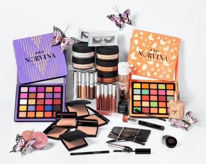 What's in the BoxyCharm x Anastasia Beverly Hills Premium Takeover Box? A unique selection of ABH all-stars like the Clear Brow Gel and Norvina Palette.