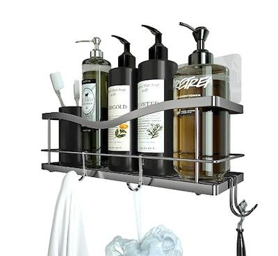 KINCMAX Shower Caddy Basket Shelf with Hook
